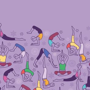 Yoga poses matching border