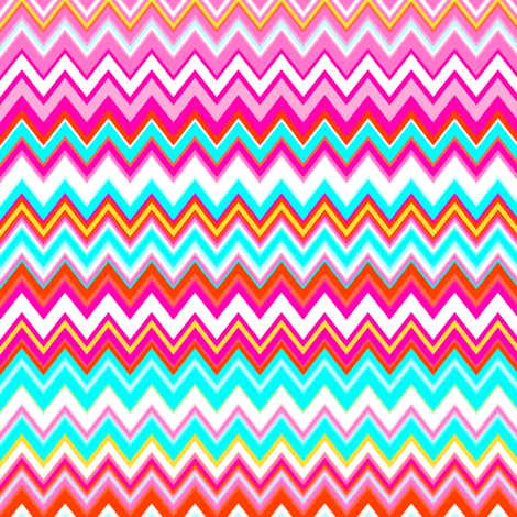 Ups and Downs Chevron fabric by peacoquettedesigns on Spoonflower - custom fabric