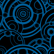 Gallifreyan Blue on Black