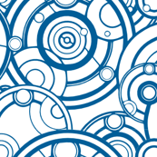 Gallifreyan Blue on White
