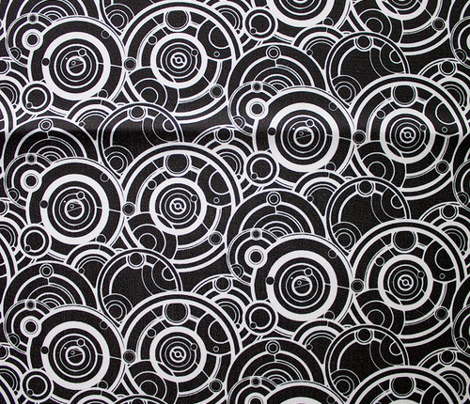 Gallifreyan White on Black