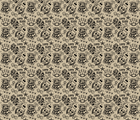 Tattoo fabric by miss_motley on Spoonflower - custom fabric