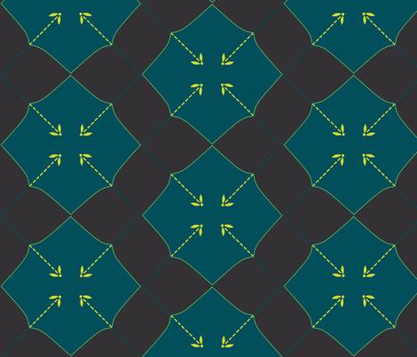 Firefly Argyle fabric by spikymammal on Spoonflower - custom fabric