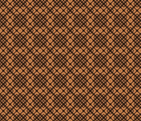 Arts and Crafts Argyle on Brown fabric by anderson_designs on Spoonflower - custom fabric