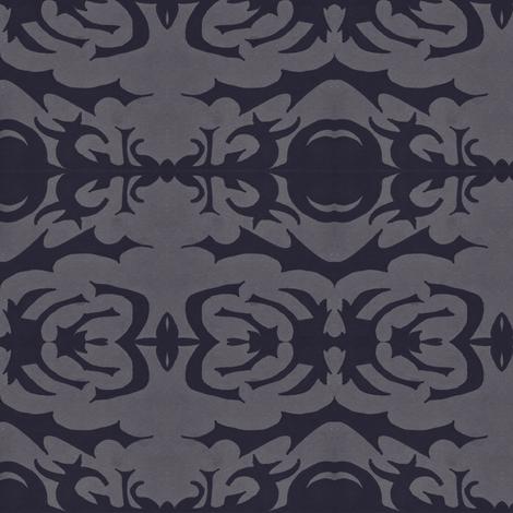 Bettina Black fabric by erin_mcclain_studio on Spoonflower - custom fabric