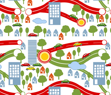Highways and byways fabric by maria's_patterns on Spoonflower - custom fabric