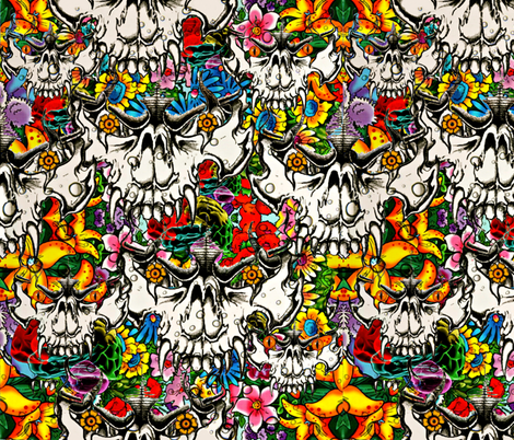 Wicked Flower Monster fabric by whimzwhirled on Spoonflower - custom fabric