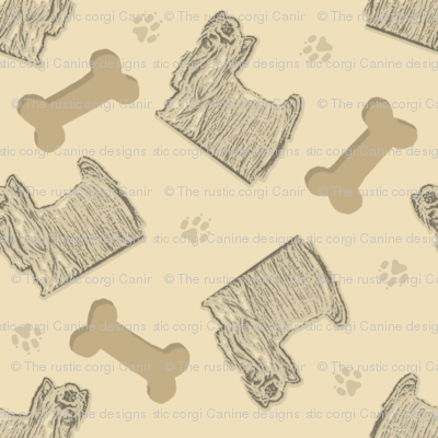 Tiny Yorkies and bones