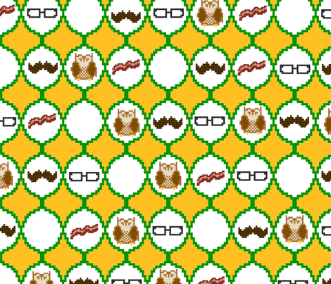 before it was cool fabric by caperberry on Spoonflower - custom fabric