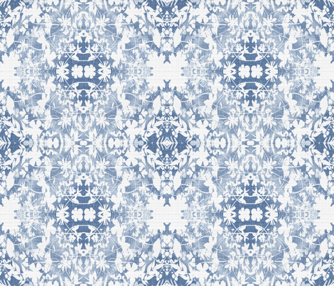 faded Blue Mist fabric by mypetalpress on Spoonflower - custom fabric