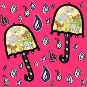 Bohemian Weather Dino Umbrellas