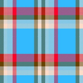 blue red Lumberjack Plaid checks tartan