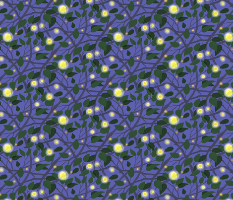 Fireflies in the Garden fabric by vinpauld on Spoonflower - custom fabric