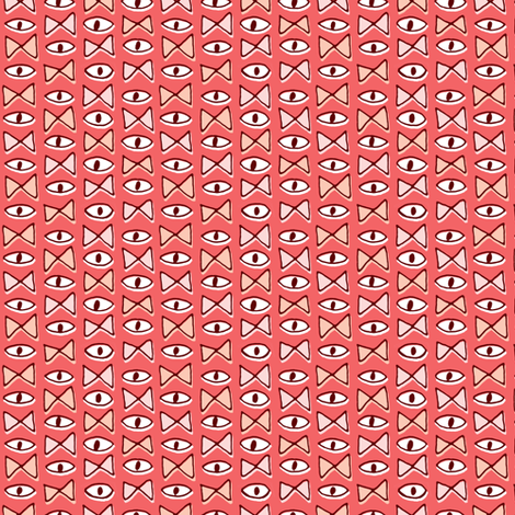 Eye Bow Tie | Red fabric by imaginaryanimal on Spoonflower - custom fabric