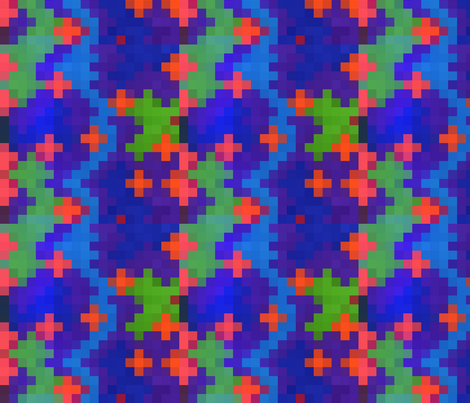 8Bit fabric by sdekoninck on Spoonflower - custom fabric