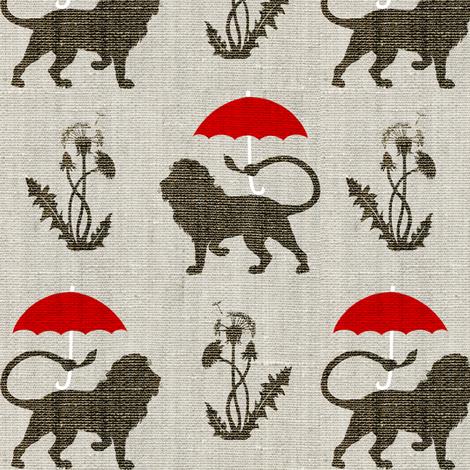 dandy lion fabric nouveaubohemian spoonflower