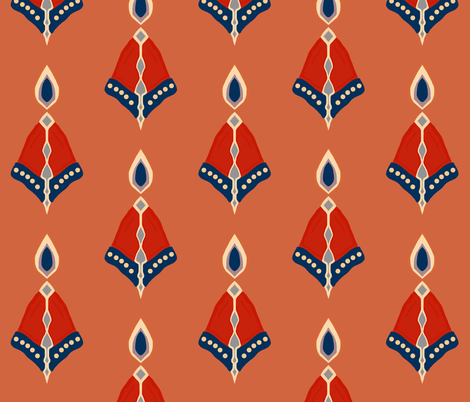 belle flame fabric by lbehrendtdesigns on Spoonflower - custom fabric