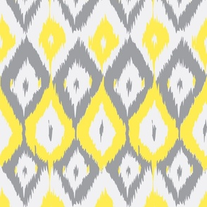 Ikat yellow gray