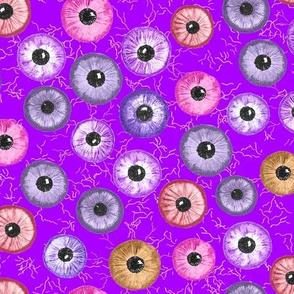 Ditsy Eyes (purples, blues, pinks, yellows)