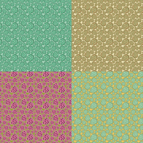 Retro Pinecones Fat Quarter Bundle