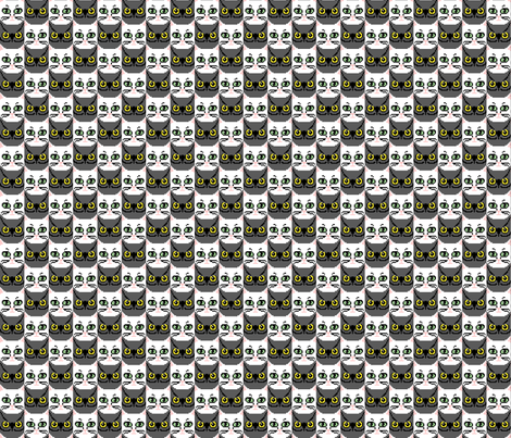 owl and pussycat 8 bit tessellation check fabric by victorialasher on Spoonflower - custom fabric
