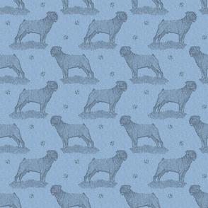 Rottweiler standing stamp - blue