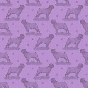 Rottweiler standing stamp - purple