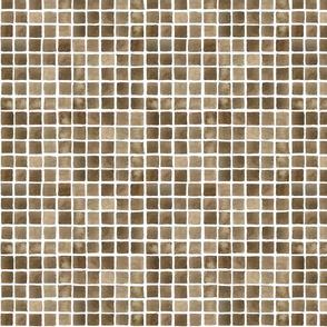 Brown Waterolour Grid