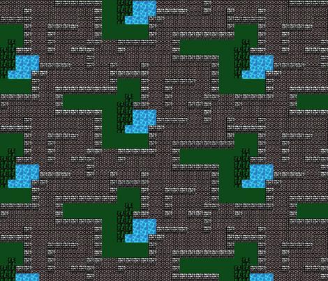 Fantasy Dungeon Adventure Map fabric by evenspor on Spoonflower - custom fabric