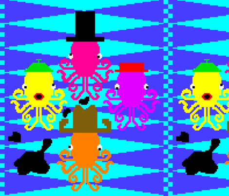 2013.07 8-bit Octopode fabric by zeph on Spoonflower - custom fabric