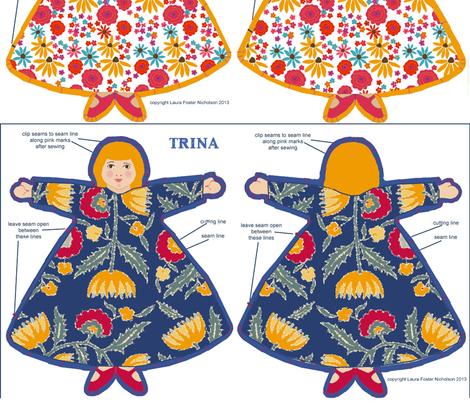 six_dolls fabric by lfntextiles on Spoonflower - custom fabric