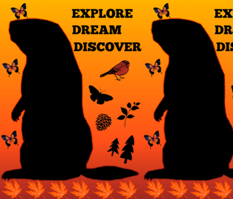 Explore, Dream, Discover ... fabric by winterblossom on Spoonflower - custom fabric