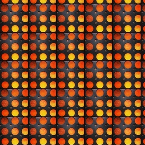 Orange   Yellow polka dots