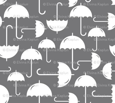 White Umbrellas allover
