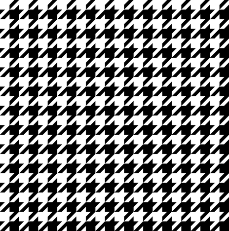 The Houndstooth Check ~ Small fabric by peacoquettedesigns on Spoonflower - custom fabric