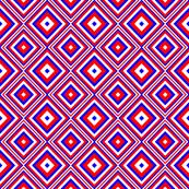 Red White Blue Diamond Square