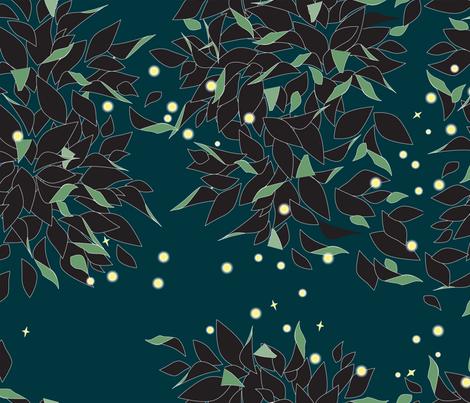 Firefly Swirl fabric by heatherdoodle on Spoonflower - custom fabric