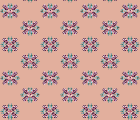 Maison Matthew Gallagher ~ Blush ~ 3 inch fabric by peacoquettedesigns on Spoonflower - custom fabric
