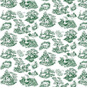 Countryside toile Green