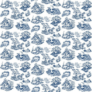 Countryside Toile Blue