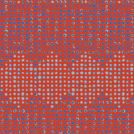Floating Argyle - Red fabric by ormolu on Spoonflower - custom fabric