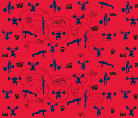 lifting-red fabric by sosewgeeky on Spoonflower - custom fabric