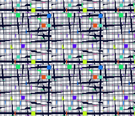 Trouble in the Urban Grid fabric by missourah_gal on Spoonflower - custom fabric