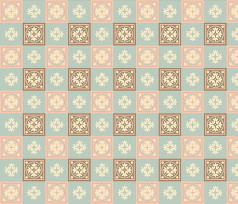 CORAL_JADE_COORDINATE fabric by mammajamma on Spoonflower - custom fabric