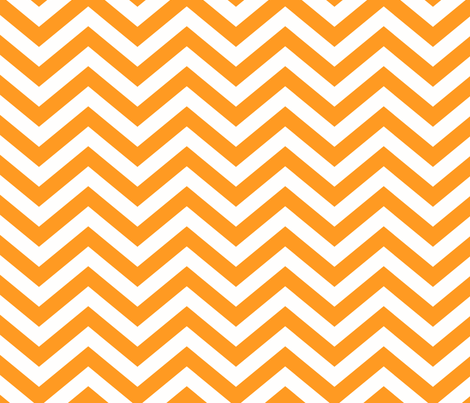 CALIFORNIA CHEVRON ORANGE fabric by juneblossom on Spoonflower - custom fabric
