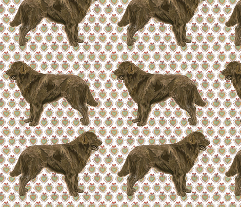 The Brown Newfoundland Dog Fabric fabric by dogdaze_ on Spoonflower - custom fabric