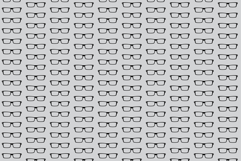 Medium I love nerds! grey  fabric by sandeeroyalty on Spoonflower - custom fabric