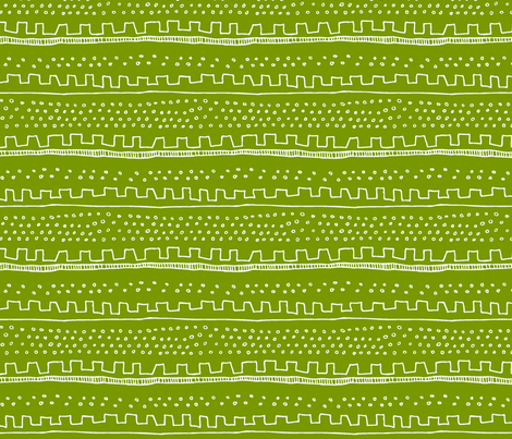 Horizontal Green Stripe fabric by katebutler on Spoonflower - custom fabric