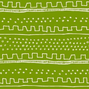 Horizontal Green Stripe