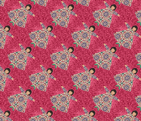 suzi_1_tile_diagonal fabric by lfntextiles on Spoonflower - custom fabric
